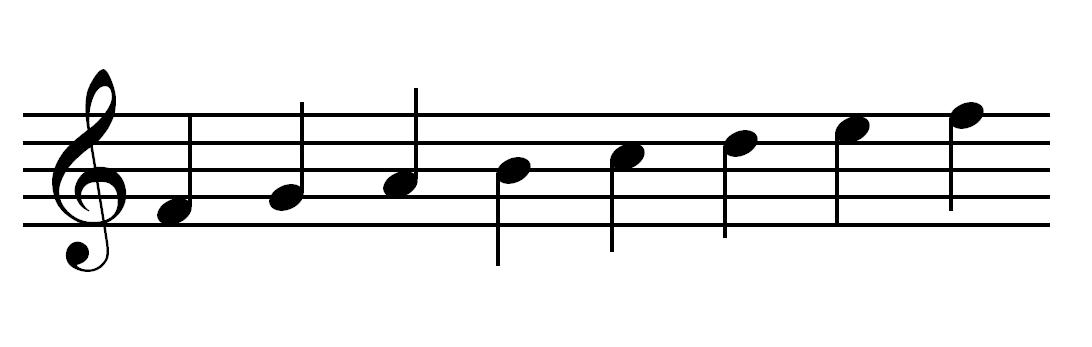 notes in treble clef