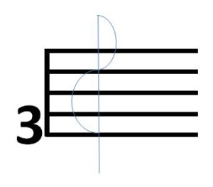 how to draw a treble clef sign