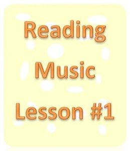 Reading Music Lesson 1