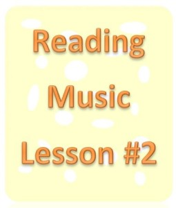 reading music lesson 2