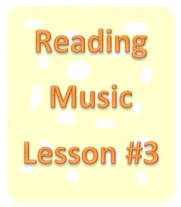 reading music lesson 3