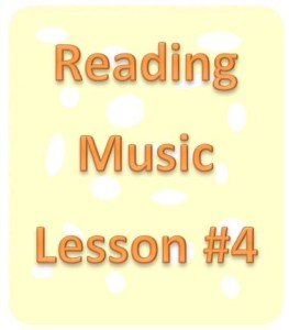 reading music lesson 4