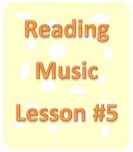 reading music lesson 5