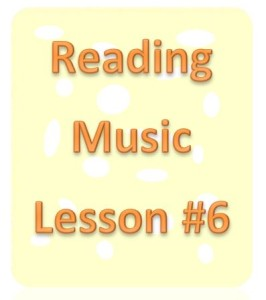 reading music lesson 6