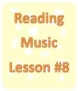 reading music lesson 8