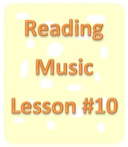 reading music lesson 10
