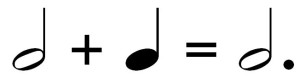 dotted half notes