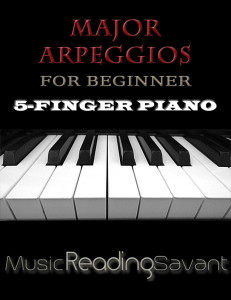 Major Arpeggios For Beginner 5-Finger Piano