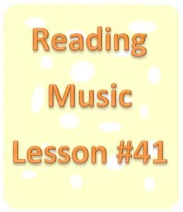 reading music lesson