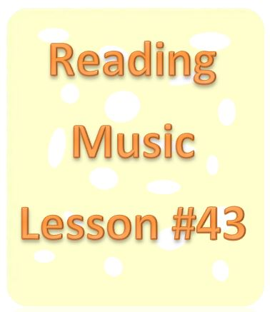Reading Music Lesson #43: Eighth Notes