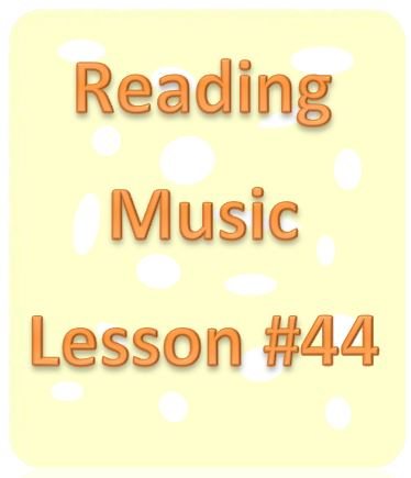 Reading Music Lesson #44: Single Eighth Note