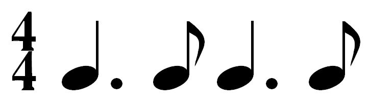 dotted quarter note eighth note