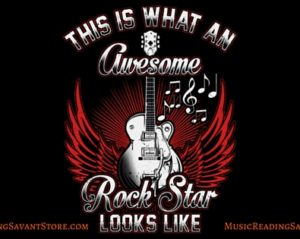 This Is What An Awesome Rock Star Looks Like Music Apparel Collection
