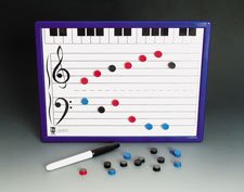 Music Treasures Co. Magnetic Two-sided Music Board