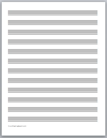 get your free music staff paper