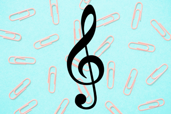 Colorful Metal Treble Clef Music Paper Clips